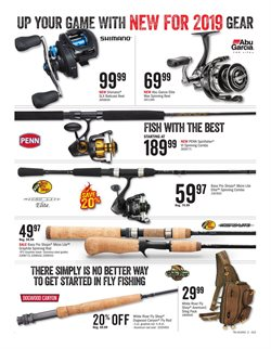 Fishing deals in the Cabela's weekly ad in Grand Rapids MI