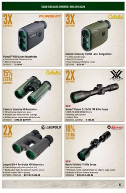 Sports deals in the Cabela's catalog ( 3 days left)