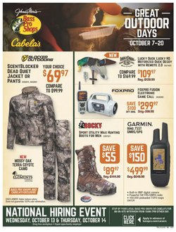 Sports deals in the Cabela's catalog ( 4 days left)