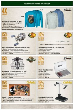 Sports deals in the Cabela's catalog ( Published today)
