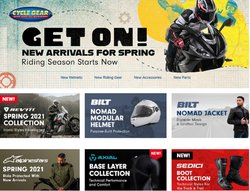 Sports offers in the Cycle Gear catalogue ( 4 days left )