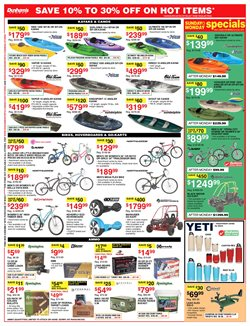 Kayak deals in the Dunham's Sports weekly ad in Newark OH