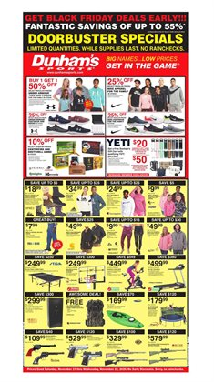 Sports offers in the Dunham's Sports catalogue in Canton OH ( 2 days left )