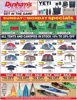 Sports deals in the Dunham's Sports catalog ( Expires tomorrow)