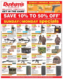 Sports deals in the Dunham's Sports weekly ad in Mechanicsburg PA