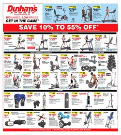 Sports deals in the Dunham's Sports weekly ad in Johnstown PA