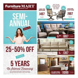 The Furniture Mart deals in the Sioux Falls SD weekly ad
