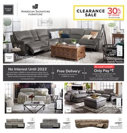 Home & Furniture deals in the American Signature Furniture weekly ad in Charleston WV
