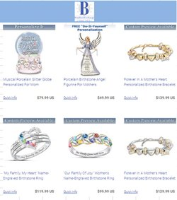 Jewelry & Watches offers in the Bradford Exchange catalogue in Richmond VA ( 24 days left )