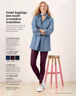 Leggings deals in the Lands' End weekly ad in New York