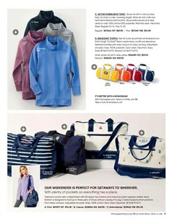 Handbag deals in the Lands' End weekly ad in New York