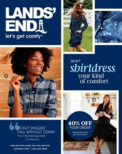 Lands' End catalogue ( More than a month )