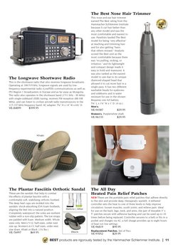 Sandals deals in Hammacher Schlemmer