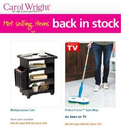 Gifts & Crafts deals in the Carol Wright Gifts catalog ( Published today)