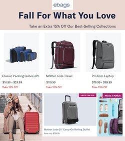 Travel & Leisure deals in the eBags catalog ( Expires today)