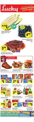 Bedroom deals in the Lucky Supermarkets weekly ad in New York