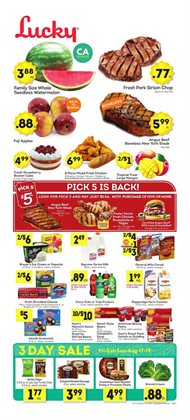 Watermelon deals in the Lucky Supermarkets weekly ad in New York
