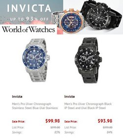 Jewelry & Watches deals in the World of Watches catalog ( Expires tomorrow)