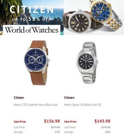Jewelry & Watches deals in the World of Watches catalog ( Published today)