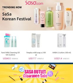 Beauty & Personal Care deals in the Sasa catalog ( Published today)