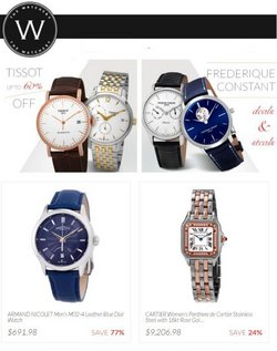 Jewelry & Watches deals in the The Watchery catalog ( Expires today)