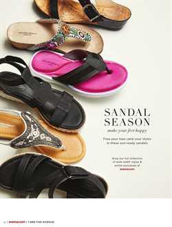 Sandals deals in the Avenue weekly ad in Dearborn Heights MI