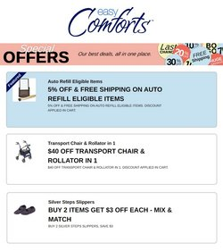 Clothing & Apparel offers in the Easy Comforts catalogue in Chicago IL ( Published today )
