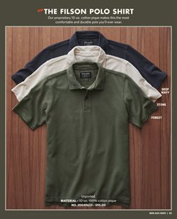 T-shirt deals in the Filson weekly ad in New York
