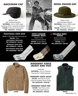 Socks deals in the Filson weekly ad in New York