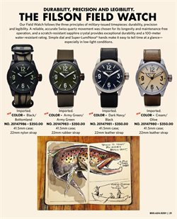 Watch deals in the Filson weekly ad in New York