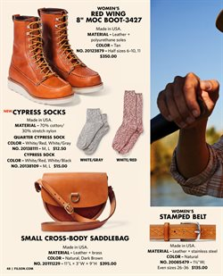 Men's socks deals in the Filson weekly ad in New York