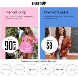 Thredup deals in the Thredup catalog ( 1 day ago)