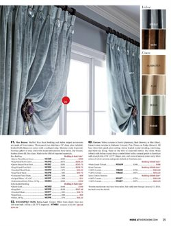 Curtains deals in the Horchow weekly ad in New York