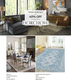 Home & Furniture deals in the Horchow catalog ( Published today)