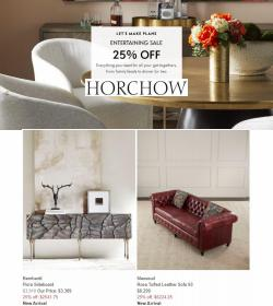 Home & Furniture deals in the Horchow catalog ( Expires tomorrow)
