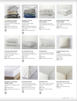 Pillow deals in the Coyuchi weekly ad in New York