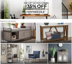 Home & Furniture deals in the Hayneedle catalog ( Expires today)