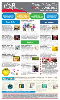 Gifts & Crafts deals in the Craft Warehouse weekly ad in Portland OR