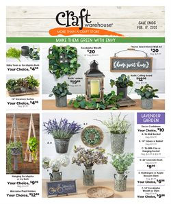 Craft Warehouse catalogue ( Expired )