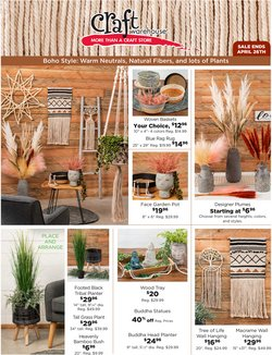 Craft Warehouse catalogue ( 1 day ago )