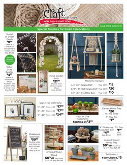 Gifts & Crafts deals in the Craft Warehouse catalog ( Expires tomorrow)
