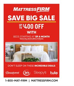 Home & Furniture deals in the MattressFirm weekly ad in Columbus IN