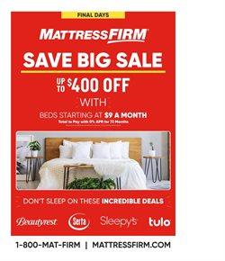 MattressFirm deals in the Sioux Falls SD weekly ad