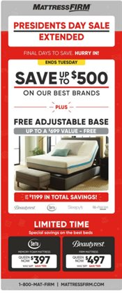 Home & Furniture deals in the MattressFirm weekly ad in Charleston WV