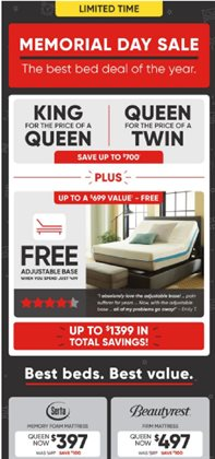 Home & Furniture deals in the MattressFirm weekly ad in Newark OH