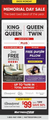 Home & Furniture deals in the MattressFirm weekly ad in Flagstaff AZ