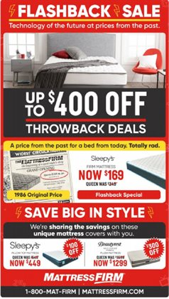 Home & Furniture deals in the MattressFirm weekly ad in Huntsville AL