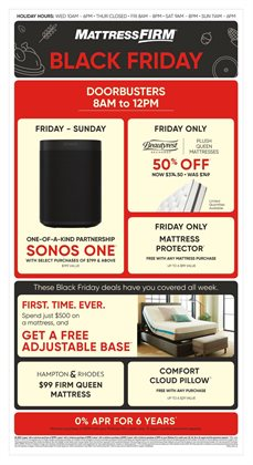 MattressFirm deals in the Houston TX weekly ad