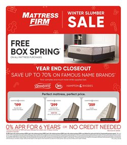 Home & Furniture deals in the MattressFirm weekly ad in Hot Springs National Park AR