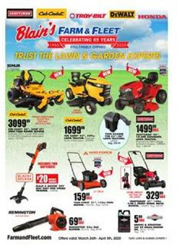 Department Stores offers in the Blain's Farm & Fleet catalogue in Waterloo IA ( Expires today )